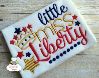 Little Miss Liberty Patriotic/4th of July Shirt or Bodysuit, Independence Day, Fireworks, Girl 4th of July, 4th of July Parade, Liberty