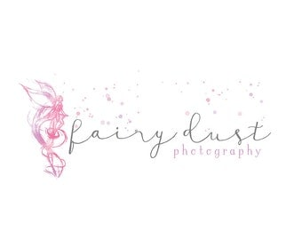 Watercolor Business Logo, watercolor design, photography, watermark, painted, splash, fairy - Newborn photography logo, maternity, stars