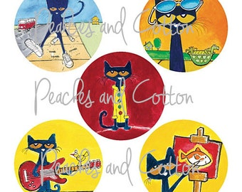Pete the Cat Printable Stickers