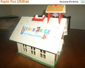 Save 25% Today Vintage 1971 Fisher Price School House No 923 Working Bell Excellent Original Condition