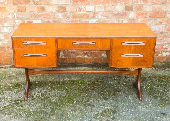 G plan fresco v b wilkins retro teak dressing table desk for G plan bedroom furniture dressing tables