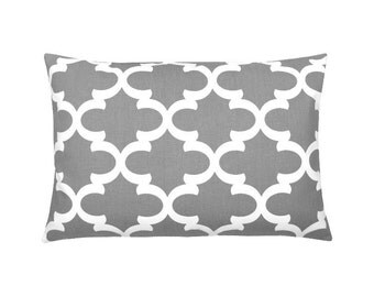 Cushion cover Bob grey white 40 x 60 cm grid Oriental