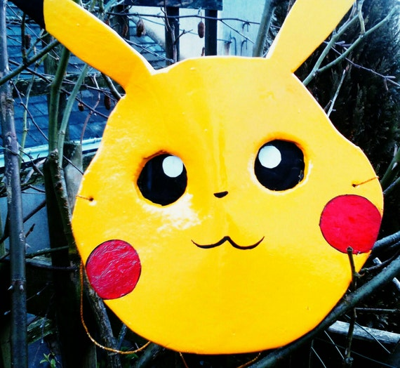 Pikachu mask. Handcrafted and wearable.