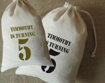 10 Party Favor Bags, Party Supplies, Drawstring Bag, Fabric Bag,  Kids Party Favor, Birthday Party Favor Bag, Event Favor Bag