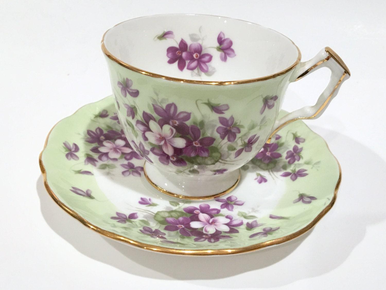aynsley tea cup and saucer violet cup tea set antique tea. Black Bedroom Furniture Sets. Home Design Ideas