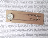 Frodo, Lord of the Rings bookmark: paper clip style page marker made using a vintage page. Gift idea for book lover, bookworm, son.