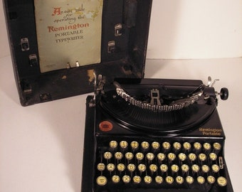 1927 Remington Model 2 Flat Top Portable Typewriter