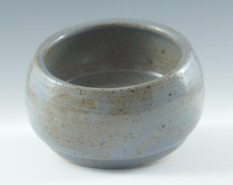 Rustic Blue Stonewear Clay Catch All Dish