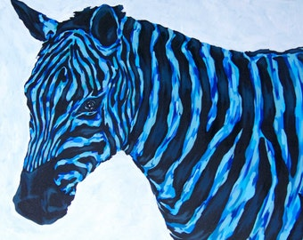 Zebra painting, acrylic painting, animal art, pop art, contemporary art, Art Sydney australia