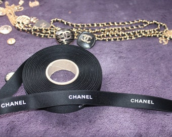 Authentic Real Chanel ribbon 1 yard 3/4 inch wide