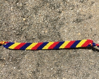 The Romanian Flag Friendship Bracelet