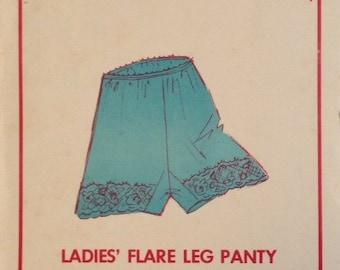 Sew Lovely Pattern P504 Ladies Flare Leg Panty Size: 4-9