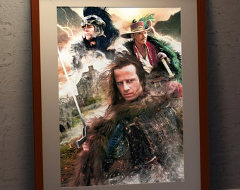 Highlander 'There Can Be Only One' A3 Poster