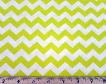 """1/2"""" Chevron Yellow Fabric"""