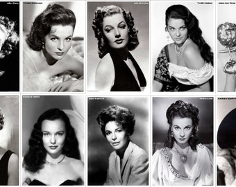 850 High Quality 'Print Ready' Legendary Ladies Of Hollywood' Portraits - FREE SHIPPING!