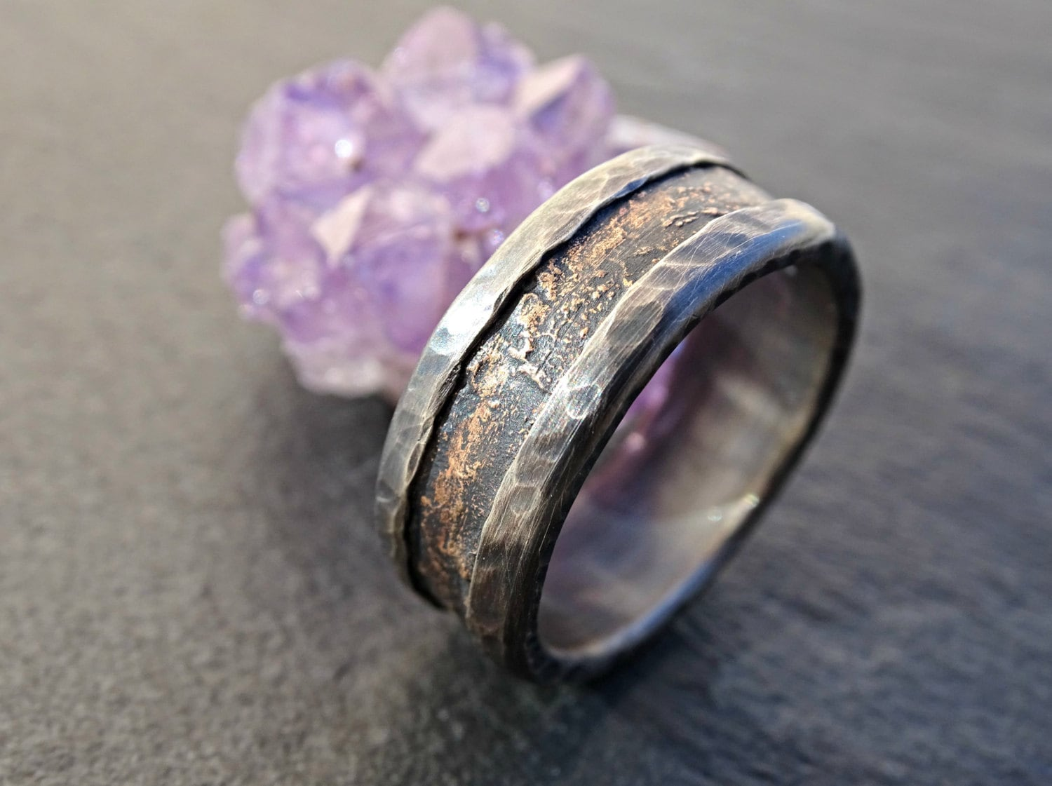 Unique Wedding Band Industrial Ring For Men Medieval Wedding