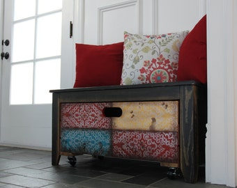 Indian crate storage bench/1