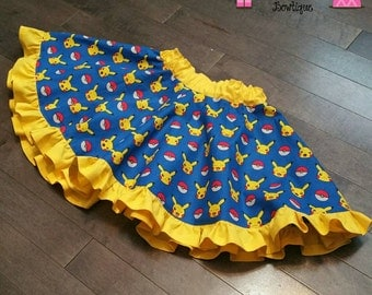 Pokémon Pikachu Skirt and Mini bow