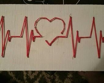 ECG Heart Blip String Art