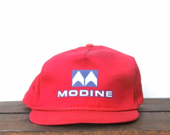 Vintage Red Modine Heaters Trucker Hat Snapback Baseball Cap