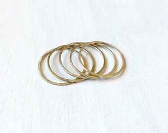 Sterling Silver Stacking Rings // Size 8.25 // Minimal Sterling Rings // Dainty Silver Rings