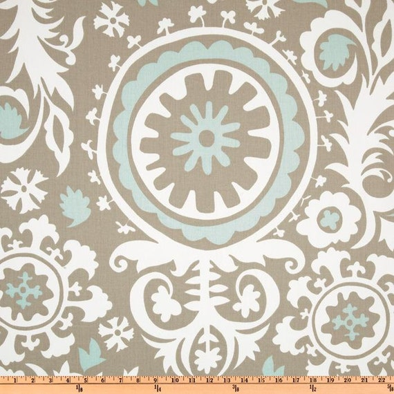 1 5 Yard Premier Prints Suzani Twill Powder Blue Home