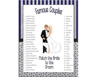 Bridal Shower Game Wedding Shower Game Couples Shower Game