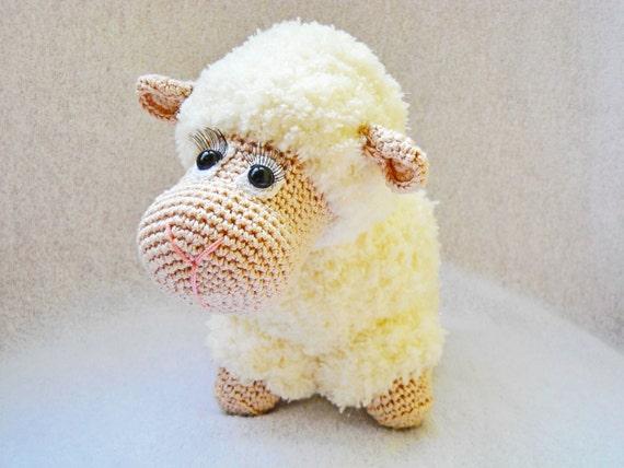 Amigurumi Sheep Doll : Crochet sheep White amigurumi lamb stuffed toy lamb amigurumi
