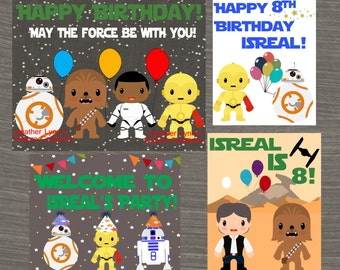Star Wars Birthday Sign, Star Wars Birthday Decor, Star Wars Birthday Decoration, Buy one Get one