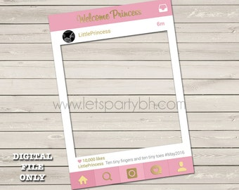 Digital File - Pink Instagram Photo booth Frame