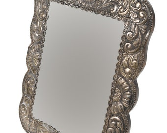 19th century Beauriful Sterling Repousse Picture Frame