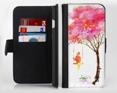 The Summer Swing lnk-Fuzed Leather Folding Wallet Case For the Apple iPhone and Samsung Galaxy Devices