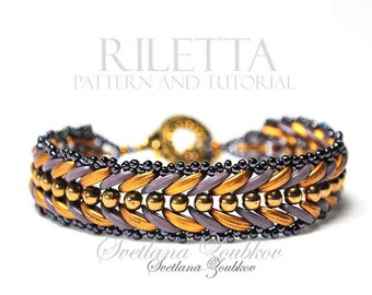 Beaded Bracelet Pattern Crescent Beads Riletta Tutorial