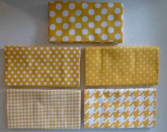 Michael Miller Modern Basics~Ocean~LT.Blue~Geometric~Cotton Fabric,Fat Quarter Bundle of 5~Fast Shipping FQ526