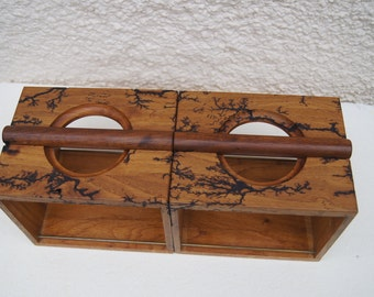 Lichtenberg   Oak  CD Racks