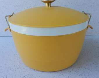 Sunfrost Thermoware Ice Bucket, Insulated Serving Bowl, Therm-o-ware, Yellow, Gold