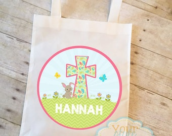 Personalized Easter Tote  Bag - Easter Bunny - Easter Egg - Spring - Easter Tote