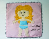 Felt Quiet Book Princess Dress Up Doll (Doll Page ONLY Dresses Sold Separately)