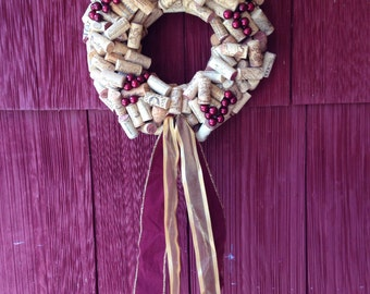14 inch hand crafted cork wreath