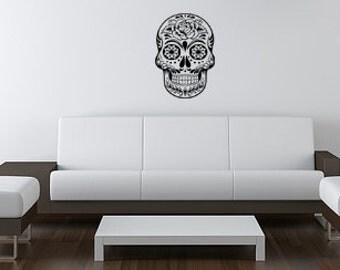 Sugar Skull 1 XL Wall Decal Sticker