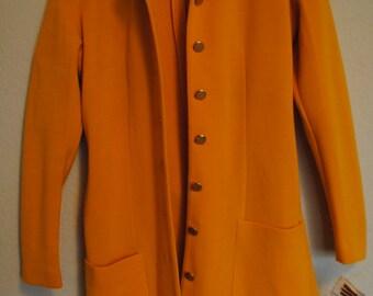 vintage 1970s  Act III / mustard yellow wool jacket