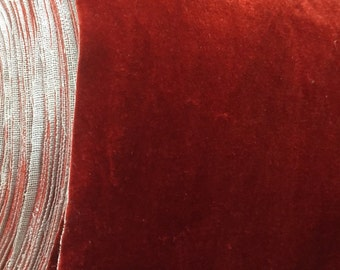 Orange Velvet Fabric,Upholstery Fabric,Drapery,Fabric By Yard
