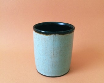 Blue and Brown Juice Cup