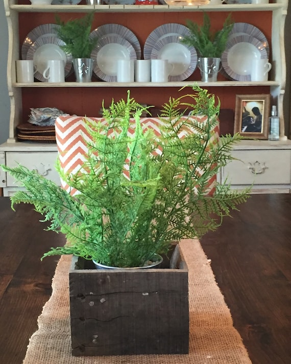 Items similar to rustic pallet wood centerpiece box on etsy