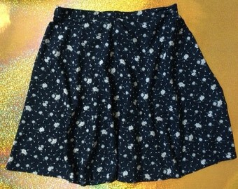 90's ditsy floral skirt