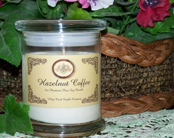 Hazelnut Coffee Premium 100% Pure Soy Candle 8oz
