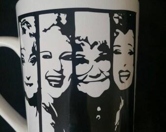 Golden girls silhouette coffee mug