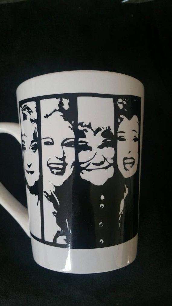 Golden girls silhouette coffee mug