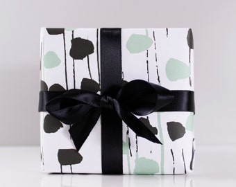 Dot And Stripe Recycled Wrapping Paper