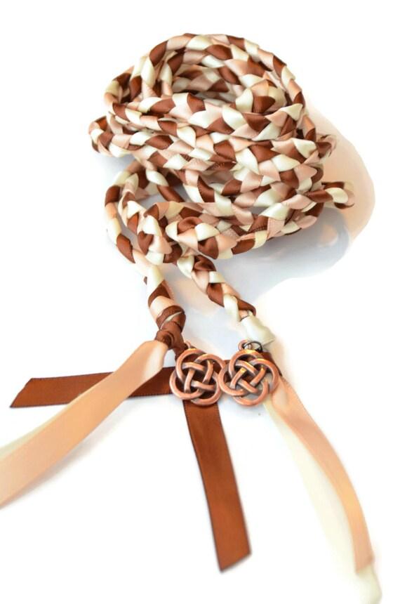 Celtic Knot Wedding Hand Fasting Binding Cord V2 Chocolate